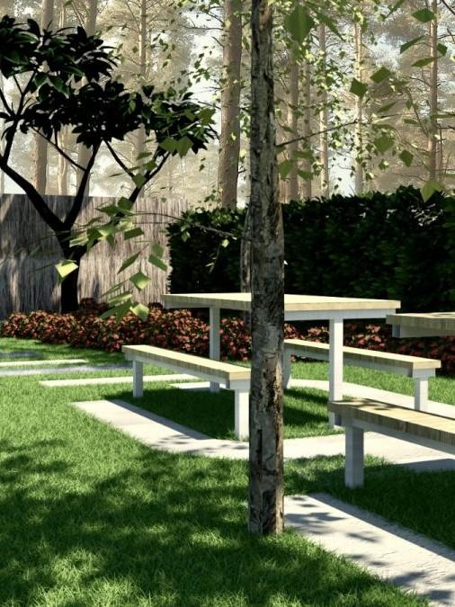 diseño 3D jardines Barcelona