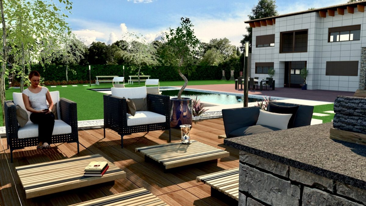 diseno 3d barcelona jardin