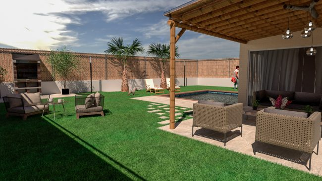 cesped artificial terraza