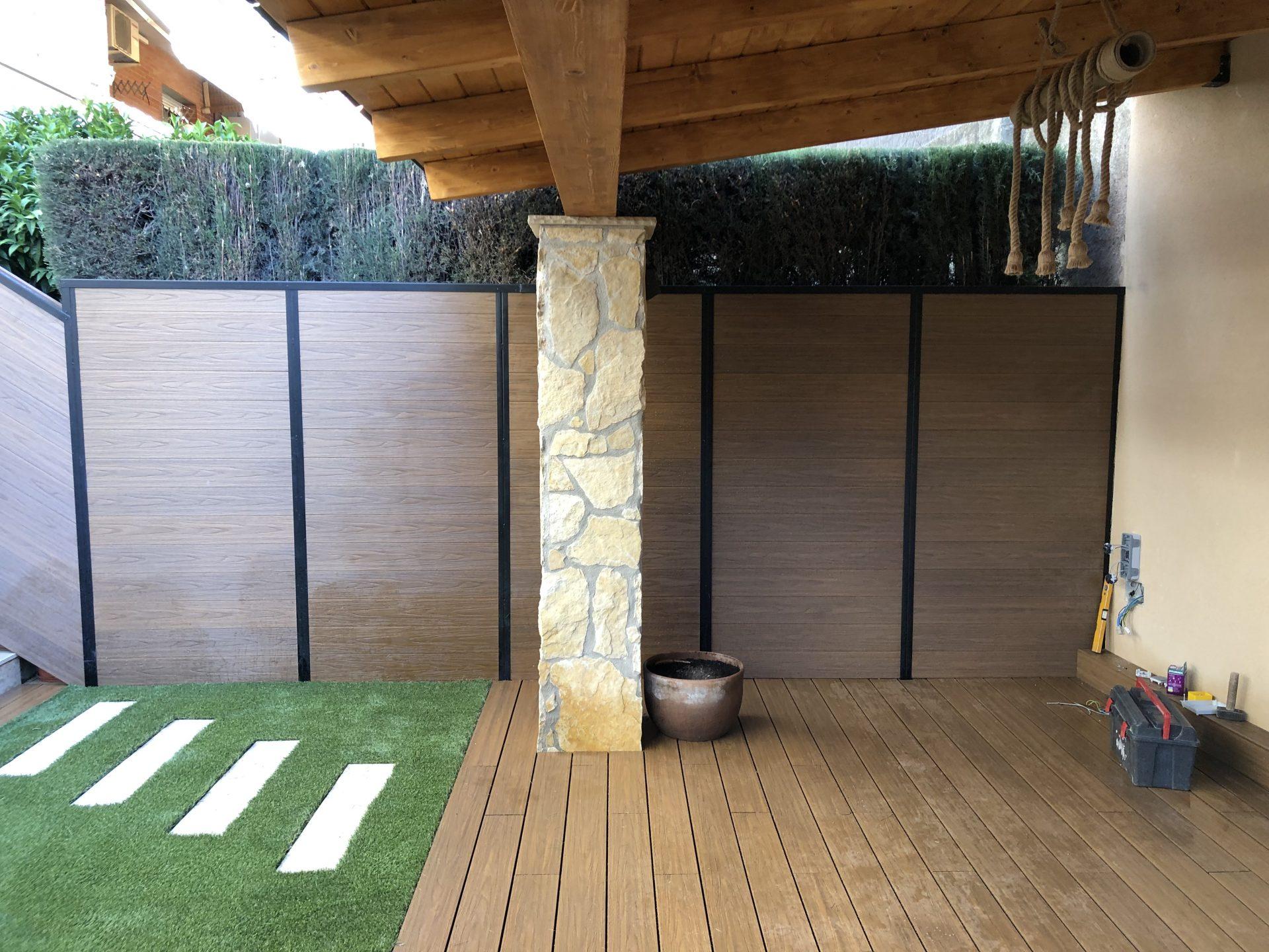 tarima sintética de efecto madera en Barcelona