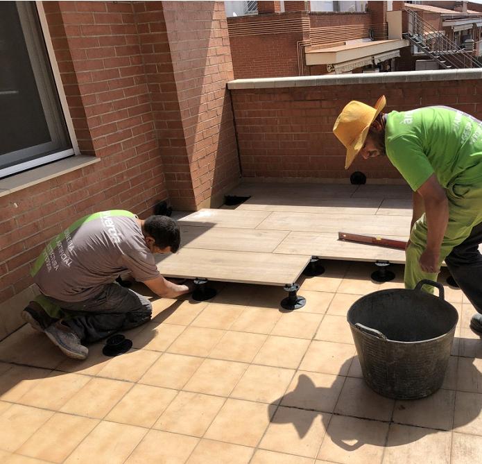 suelo técnico exterior barcelona