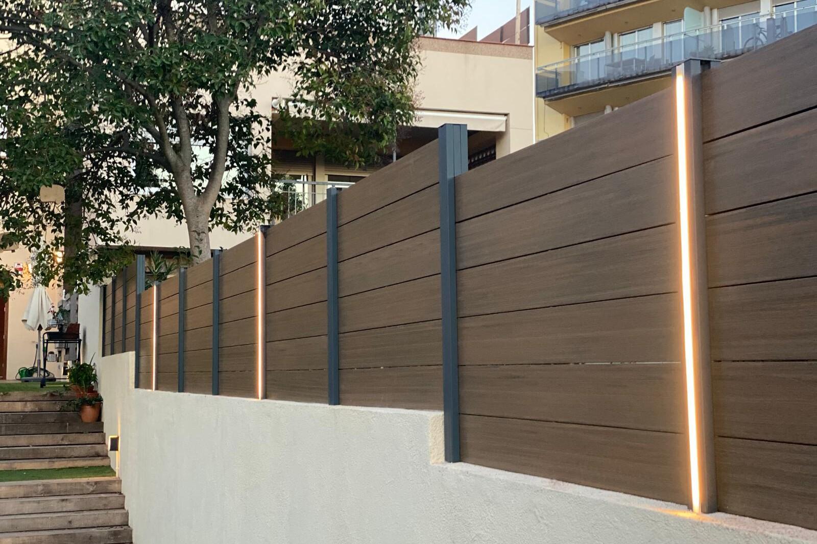 Valla madera sintética barcelona